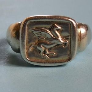 Signed Ecclissi Pegasus Ring .925 Sterling Silver